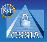 CSSIA logo pyramid with lock and NSF logo